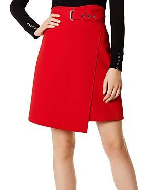 Karen Millen Faux-wrap A-line Skirt