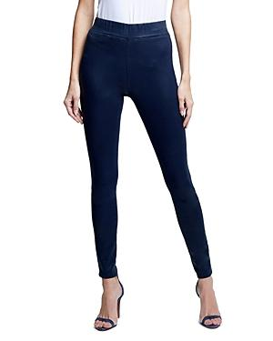 L'agence Rochelle High Rise Pull On Jeans In Navy Coated