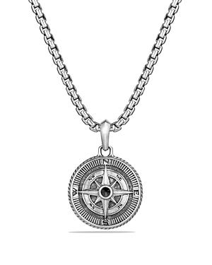 David Yurman Maritime Compass Amulet With Black Diamonds