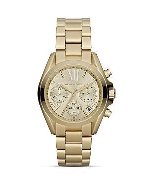 Michael Kors Mini Bradshaw Chronograph Watch In Gold, 35mm