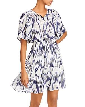 Rebecca Taylor Printed Smocked-waist Dress
