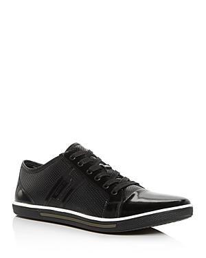 Kenneth Cole Men's Down N Up Perforated Leather Low-top Sneakers