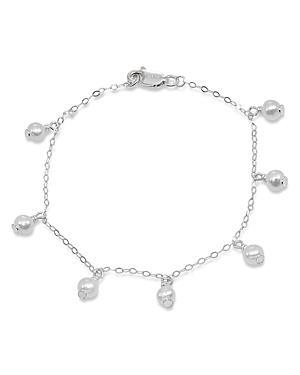 Aqua Cultured Freshwater Pearl Link Bracelet - 100% Exclusive