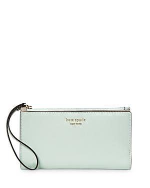 Kate Spade New York Spencer Saffaino Leather Continental Wristlet