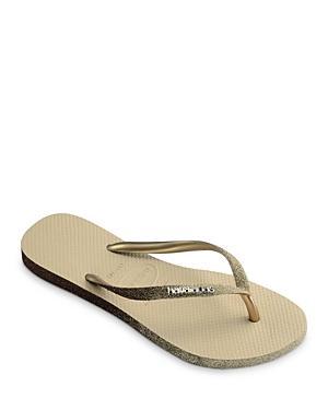 Havaianas Women's Slim Sparkle Glitter Rubber Flip Flops