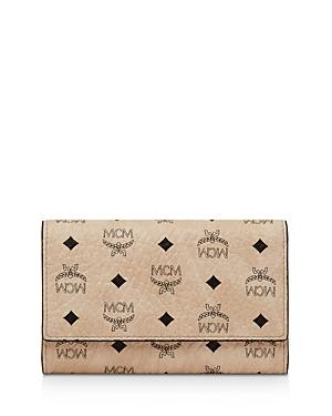 Mcm Visetos Original Medium Three Fold Wallet
