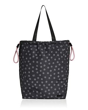 Ganni Recycled Smiley Face Print Tote Bag