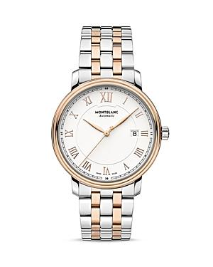 Montblanc Tradition Date Automatic Two Tone Watch, 40mm