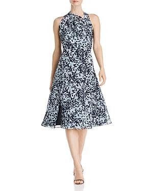Donna Karan Printed Fit-and-flare Dress