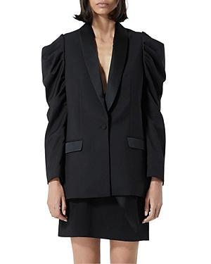 The Kooples Puff Sleeve Tuxedo Jacket