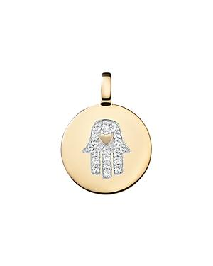 Charmbar Reversible Hamsa Hand Charm In Sterling Silver Or 14k Gold-plated Sterling Silver
