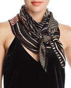Echo Striped Patchwork-print Silk Scarf - 100% Exclusive