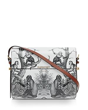 Burberry Large Monkey Print Leather Grace Bag