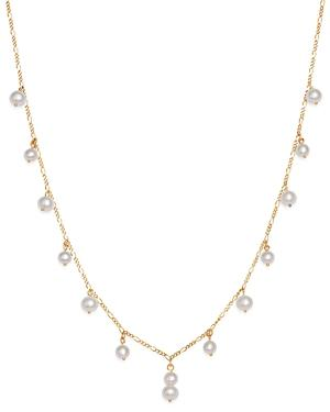 Bloomingdale's Cultured Freshwater Pearl Dangle Choker Necklace In 14k Yellow Gold, 16 - 100% Exclusive