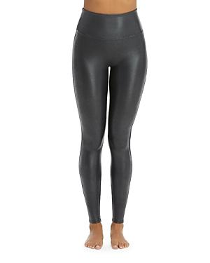 Spanx Faux-leather Pebbled Leggings