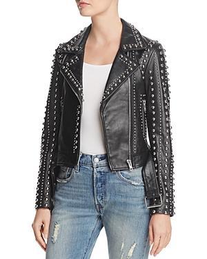Rebecca Minkoff Adelia Studded Leather Moto Jacket