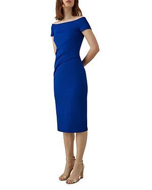 Karen Millen Pleated-waist Sheath Dress