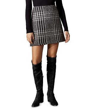 Karen Millen Check A-line Mini Skirt