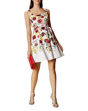 Karen Millen Atelier Floral Belted Dress
