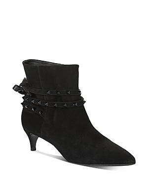 Valentino Garavani Women's Studded Strap Kitten-heel Booties