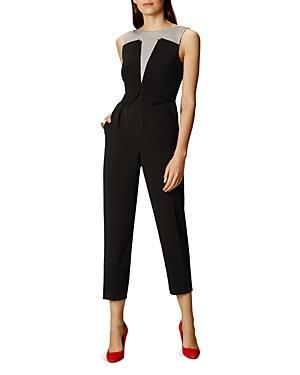 Karen Millen Tailored Color-block Jumpsuit