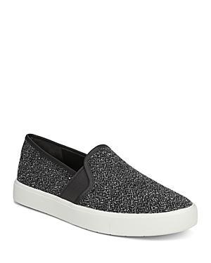 Vince Women's Blair Almond-toe Slip-on Tweed Sneakers