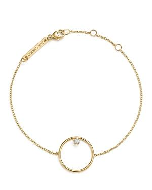 Zoe Chicco 14k Yellow Gold Circle Charm Bracelet With Diamond