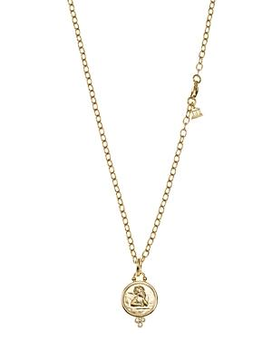 Temple St. Clair 18k Gold 14mm Angel Pendant With Diamonds