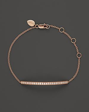 Meira T 14k Rose Gold Bar Bracelet With Diamonds, .30 Ct. T.w.