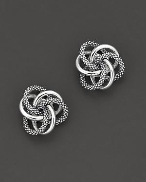 Lagos Sterling Silver Knot Caviar Earrings