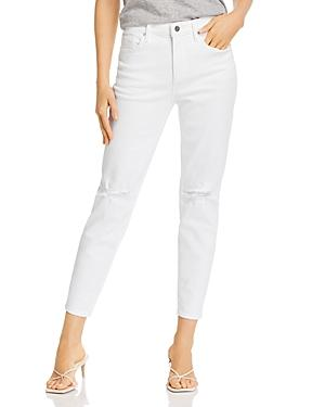 Aqua Ripped Cropped Skinny Jeans In White - 100% Exclusive