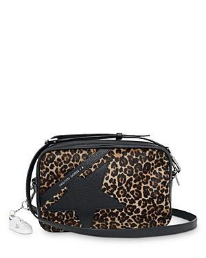 Golden Goose Deluxe Brand Leopard Print Calf Hair Star Bag