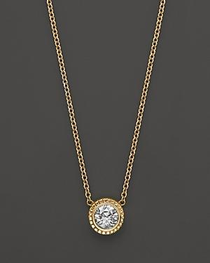 Diamond Pendant Necklace In 14k Yellow Gold, .25 Ct. T.w.