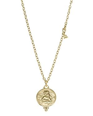 Temple St. Clair 18k Gold 21mm Angel Pendant With Diamonds