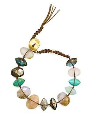 Chan Luu Mixed Nugget Bracelet In 18k Gold-plated Sterling Silver