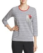 Basler Embroidered Striped Top