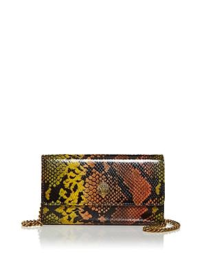 Kurt Geiger London Snake Embossed Leather Chain Wallet