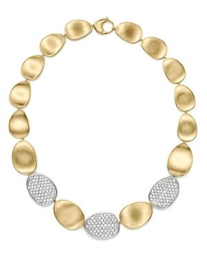 Marco Bicego Diamond Lunaria Large Collar Necklace In 18k Gold, 17.75