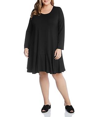 Karen Kane Plus Dakota Long-sleeve Scoop-neck Dress