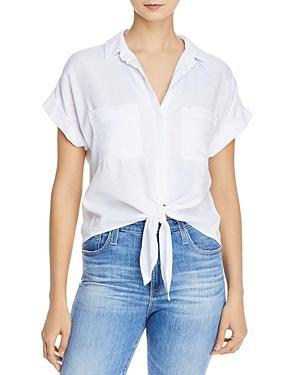 Bella Dahl Color-sprayed Tie Hem Shirt