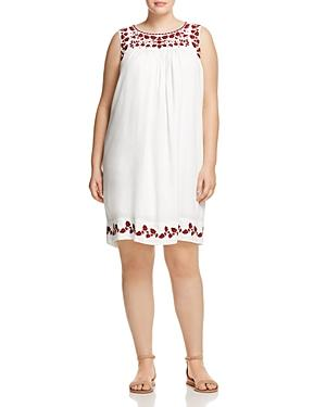 Lucky Brand Plus Sleeveless Embroidered Dress
