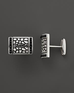 J. Goodman Sterling Silver Black Spinel Cufflinks
