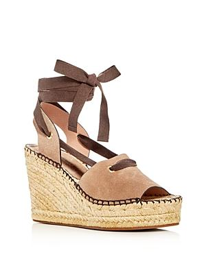 Bettye Muller Christina Lace Up Espadrille Platform Wedge Sandals