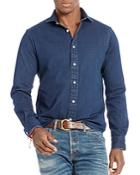 Polo Ralph Lauren Stretch Denim Slim Fit Button Down Shirt