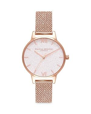 Olivia Burton Timeless Classics Glitter Dial Watch, 30mm