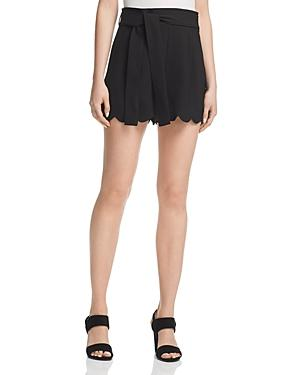 Aqua High-waist Scalloped Shorts - 100% Exclusive