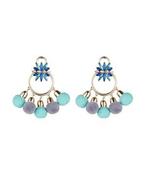 Abs By Allen Schwartz Pom-pom Chandelier Earrings - 100% Exclusive