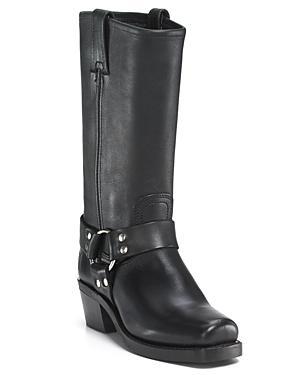 Frye Women's Harness 12r Leather Mid Heel Engineer Boots