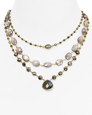 Ela Rae Luxe Three In One Are Necklace, 14-18