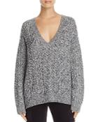 Vince Cable-knit V-neck Sweater